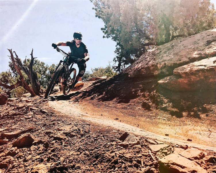 Enjoy fun flowing descents on the upper section of Mag 7's Getaway.