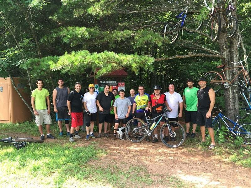 Photo at the end of a great group ride.