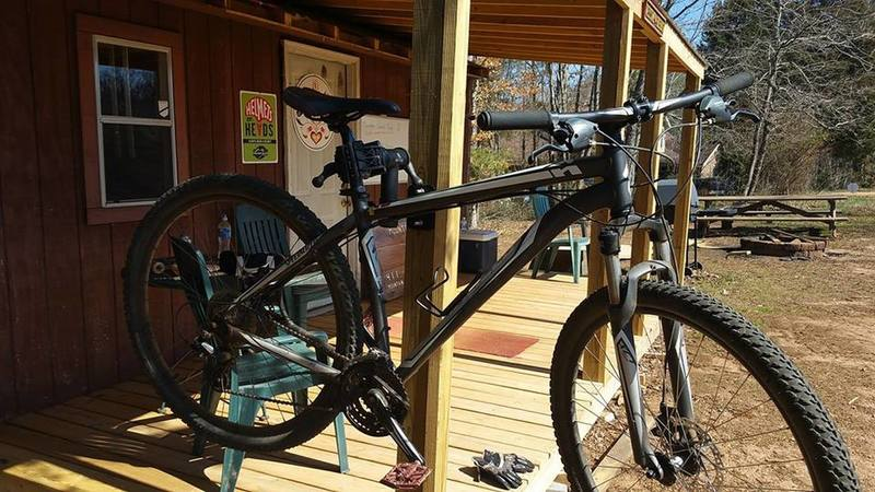 Work stand at trailhead.