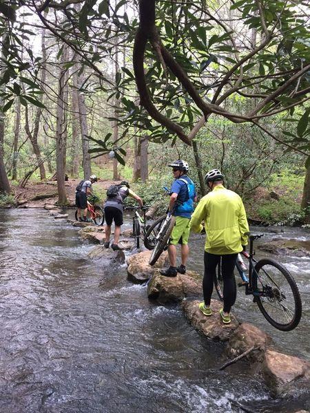 Creek crossing on Best of DuPont Ride.
