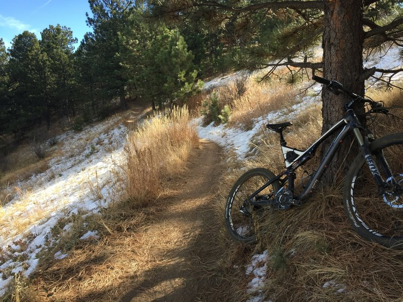 A winter ride along the Pick N' Sledge trail.