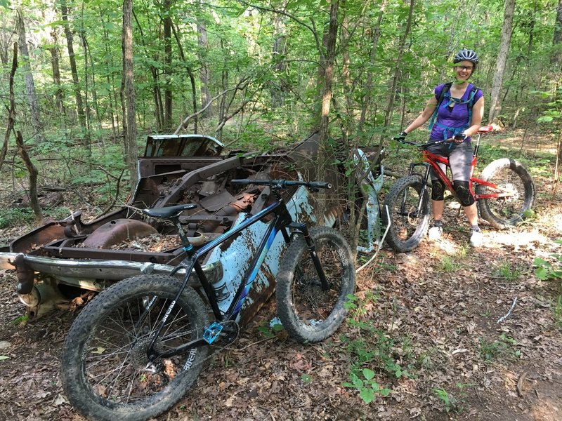 The Salsa Bucksaw and Borealis Crestone fared better than the Ford Fairlane on these rocky trails!