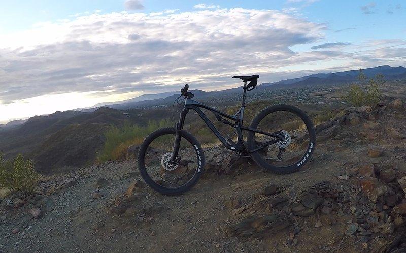 The top of Ridgeback Trail offers beautiful views.