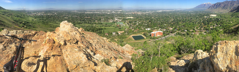 Enjoy a beautiful panoramic view at the City Overlook. It's certainly worth the climb to get here in person!