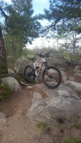 A nice rock section on the Blackmer Loop.