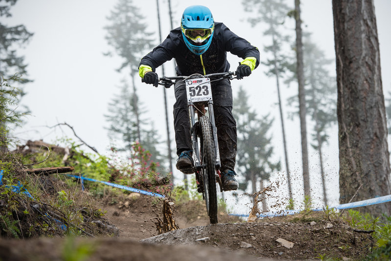 John Draskovic smashes a puddle on White Knuckle during the PRO GRT and NW Cup.