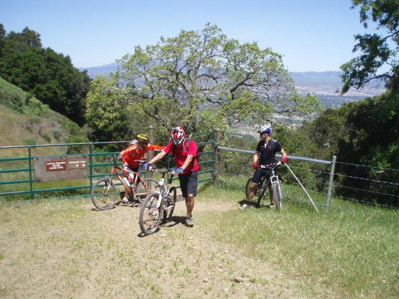 Gate on the Ridgeline Trail.