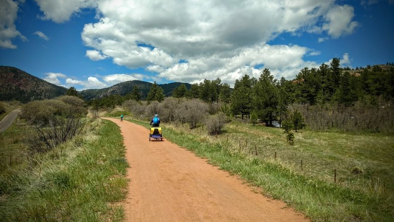 The New Santa Fe Regional Trail is great for a family ride!