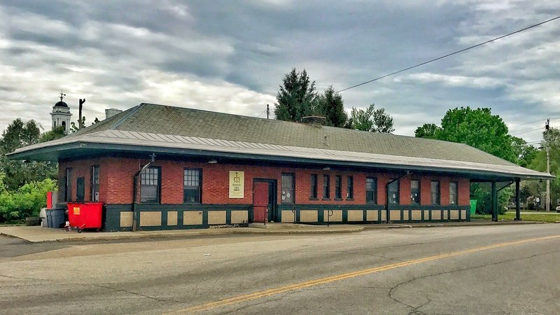 There's easy access to the D&H Rail Trail behind the old depot at the corner of Main and Depot Streets in Poultney, VT.
