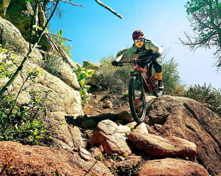 Escape the endless miles of XC singletrack with a lap at Blackjack to shake things up a bit.
