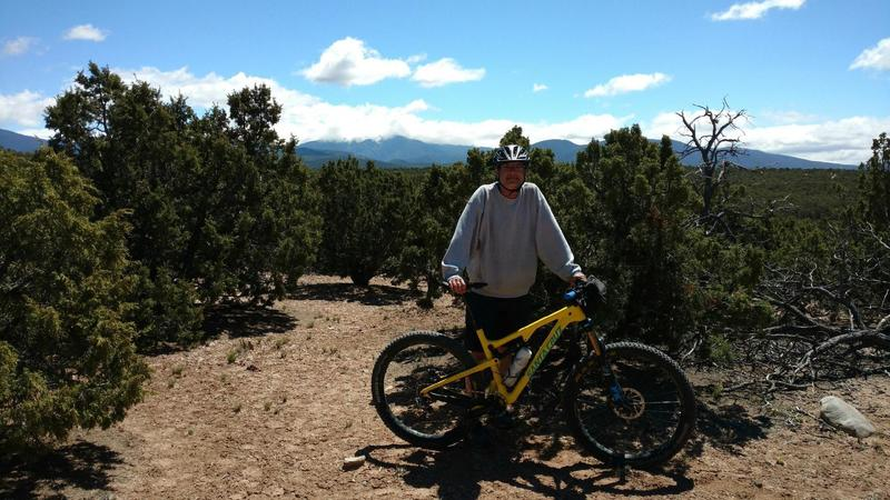 Taking a break along Trail Junction 1-2-3.