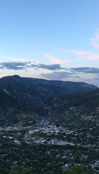 View of Glenwood Springs from Red Mountain Jeanne Golay Trail