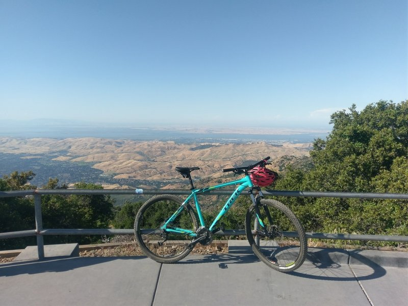 Took my Trek hardtail from Rock City to the top of Mount Diablo for the first time. This is the amazing view I was rewarded with.