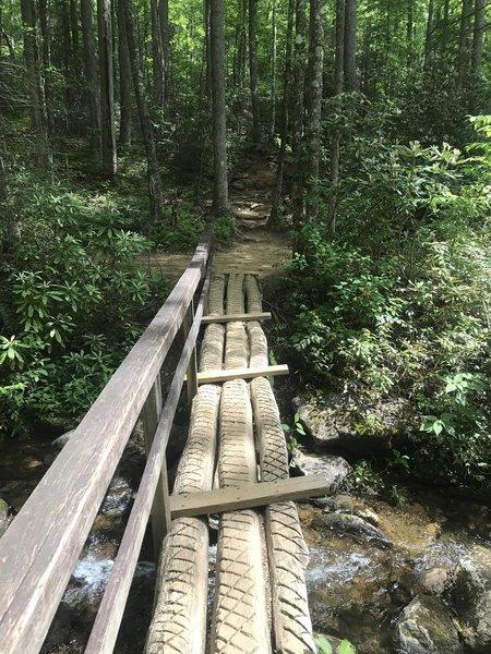 Cove Creek Loop bridge.