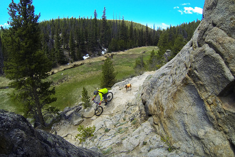 Rocks and meadows make for good scenery and fun riding on the Canyon Creek Trail.