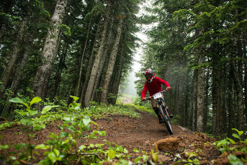The Sunrise Trail is fast, fun, and great for trail bikes.