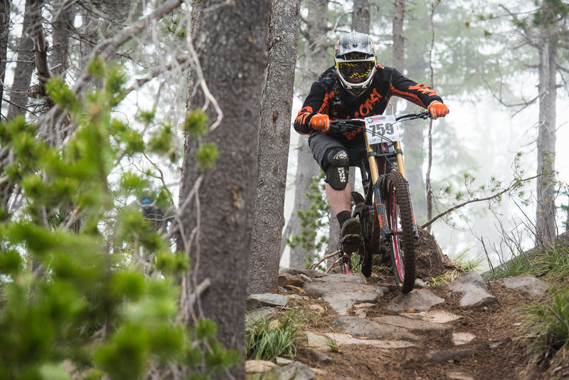 Once you hit these rocks, you're in for a fun punchy descent on Fireball.