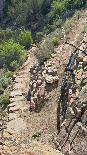 Switchback section on Gallup North Hogback.