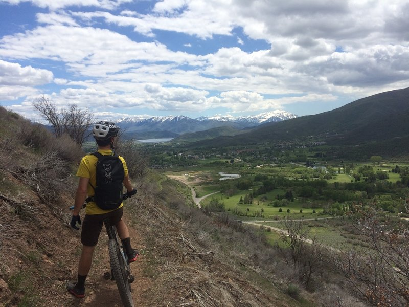 View south of Timpanogos and Deer Creek reservoir from the Phosphate trail.