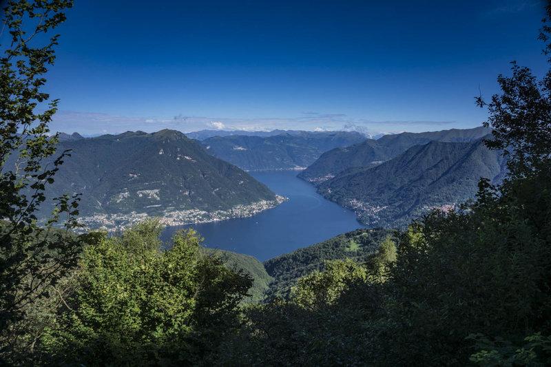Lago di Como as seen from the Dorsale di Triangolo Lario.