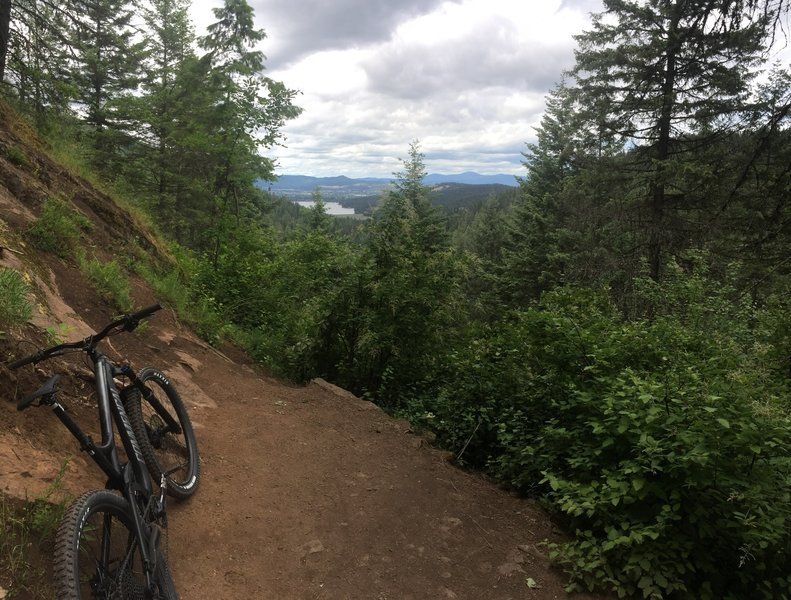 Once you reach the top of the switchbacks you're rewarded with some great views from the Liberty Creek trail.