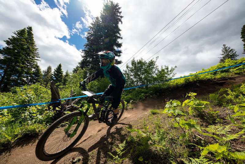 There are a few tight berms on Show-Low, but you can usually find a good line through them.