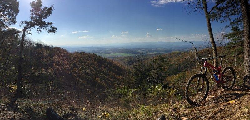 Leighton's Overlook - Western Slope of Massanutten. In this photo you are looking west towards Harrisonburg, VA. Late Fall 2016