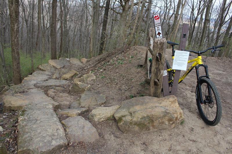 Entrance to the a nice descending rock garden!