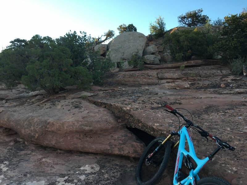 The Mag 7 ride is scattered with Fun rock ledges.