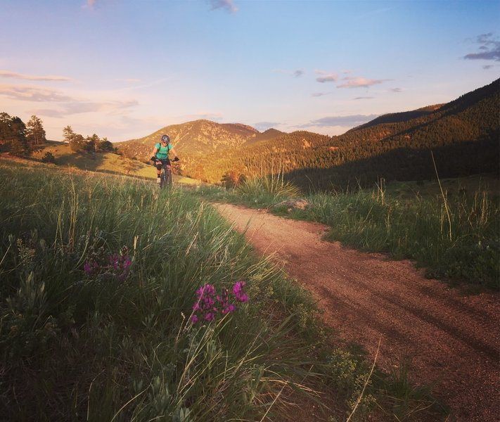 Sunset at Walker Ranch.