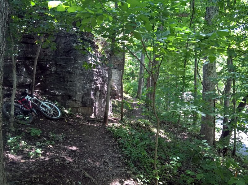 Nice challenging section of the Cherokee and Seneca Park ride.