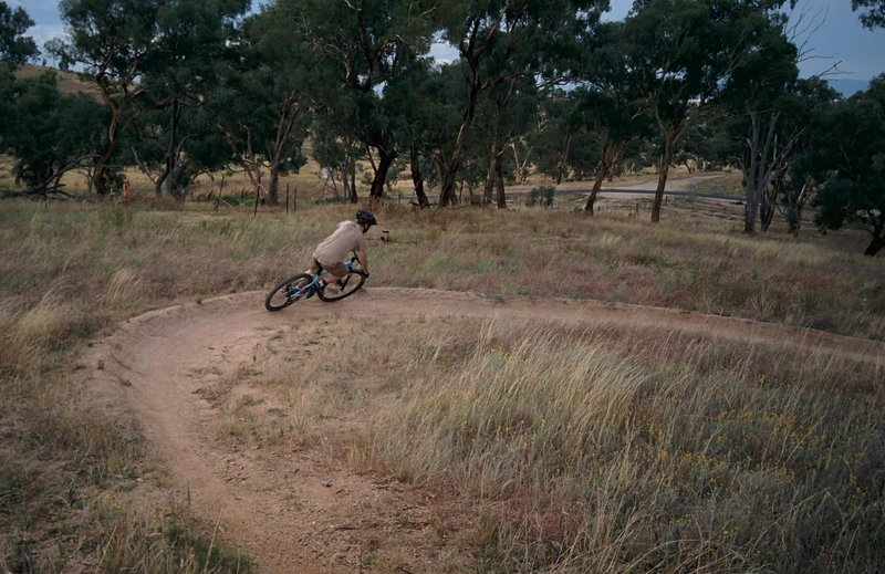 Hooking round the second berm on Forks and Spoons.