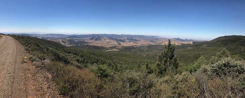 Southwest view towards SLO and adjoining area to north.