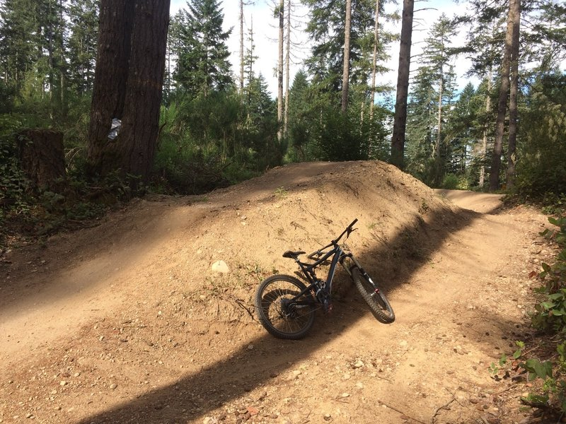 The final feature on Jump Line will test your speed and your style as you step up to the landing and the following catch berm.