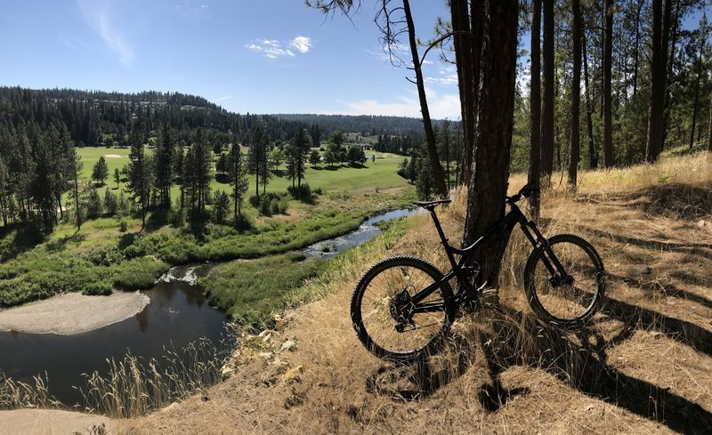 At the bottom of the bluff overlooking Latah Creek