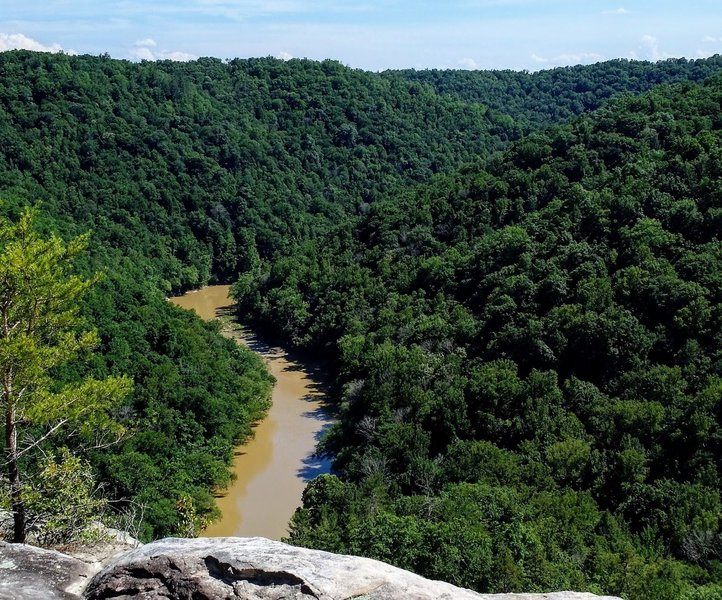 Big South Fork River from the overlook along Grand Gap Loop.