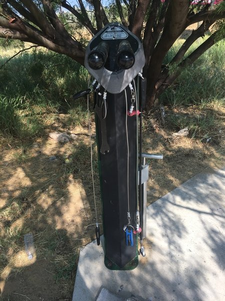 Bike care station at trailhead
