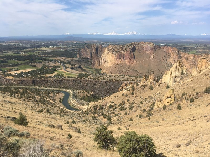 View of Smith Rock State Park from the trail.