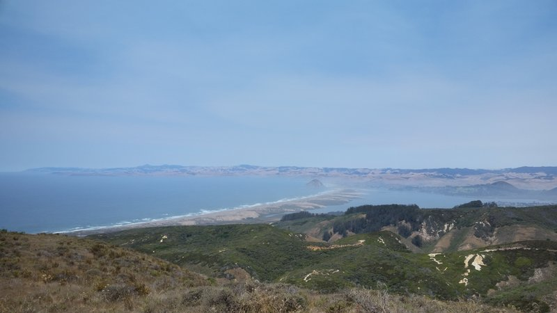 Moro Bay as seen from the top of Hazard Peak