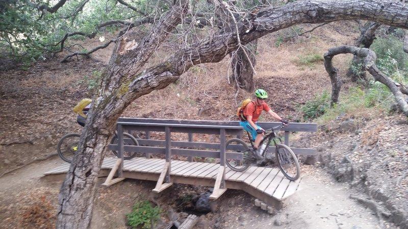 One of the few bridge crossing in Johnson Ranch
