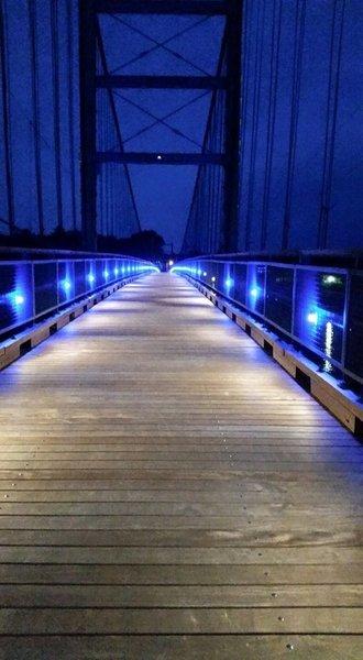 Joe Dice Swinging Bridge at night