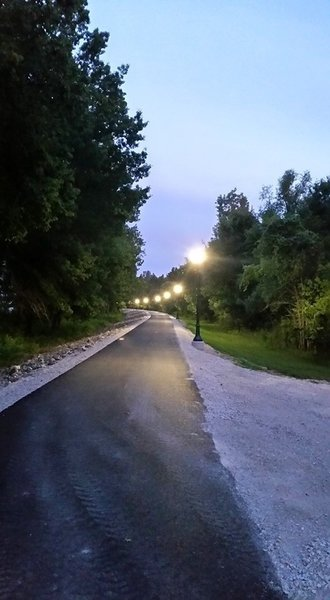 Lighted and paved Bledsoe Ferry Trail