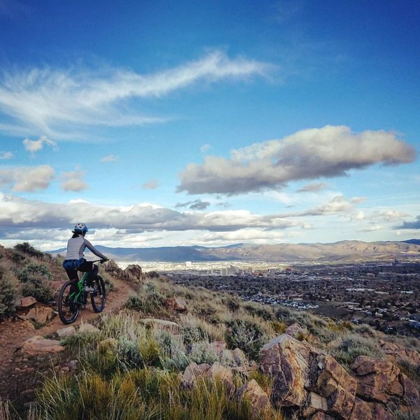 Halo trail with views of downtown Reno.