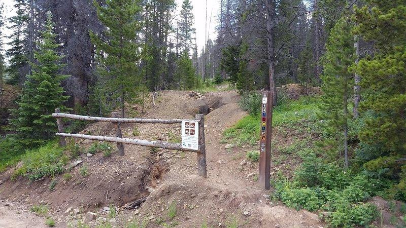 Bottom entrance to Hard Luck.