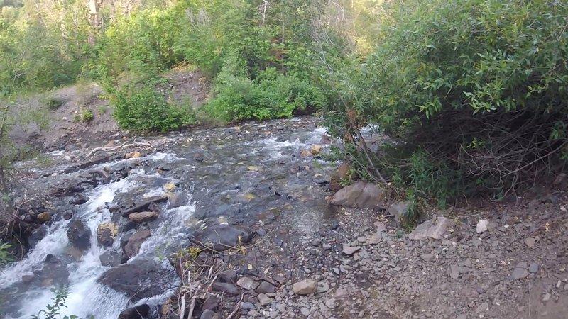 Crossing the Cutler Creek.