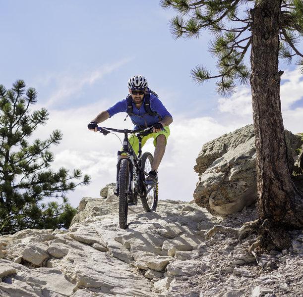 There are rocks a plenty on the Dakota Ridge trail.