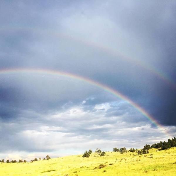 Double rainbow on Centennial Cone loop