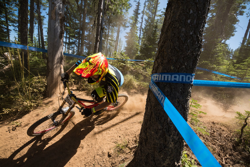 Max Ford maintains speed through the dusty ruts on El Burro Loco.