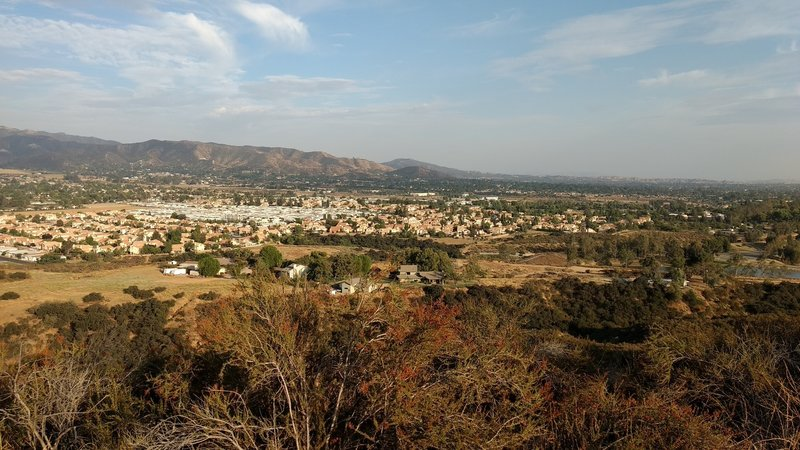 From Grape Street Trail overlooking upper part of Yucaipa Valley