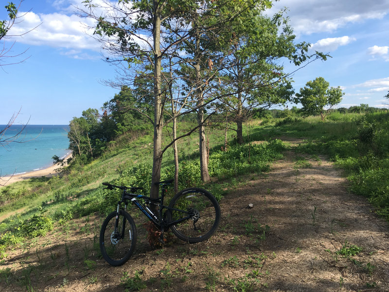 The beach, the bluff, and the bike!